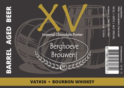 XV / BA Bourbon Whiskey / VAT 26