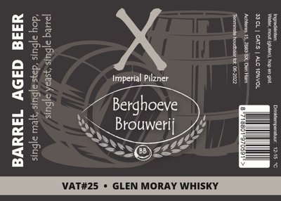 X / BA Glen Moray Whisky / VAT 25
