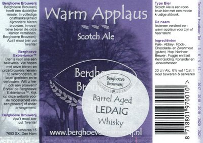 Warm Applaus/BA Ledaig